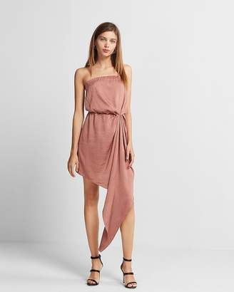 Express Strapless Asymmetrical Hem Dress