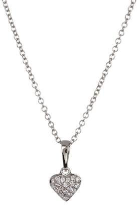 Bony Levy 18K White Gold Pave Diamond Heart Pendant Necklace - 0.06 ctw
