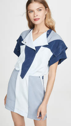 Derek Lam 10 Crosby Paneled Colorblock Dress