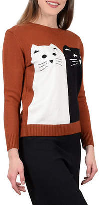 Molly Bracken Cat Crewneck Sweater