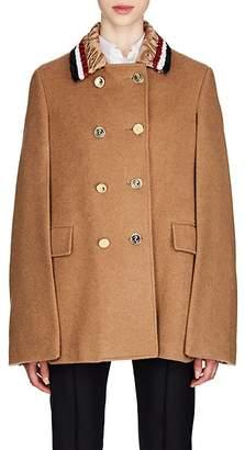 Thom Browne Women's Fur-Collar Camel Cape