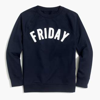"J.Crew Factory Friday"" sweatshirt"