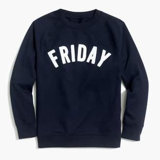 "J.Crew Factory Friday"" sweatshirt"