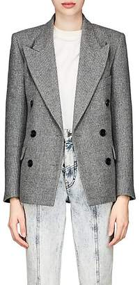 Isabel Marant Women's Eleigh Striped Wool-Linen Blazer - Light Gray