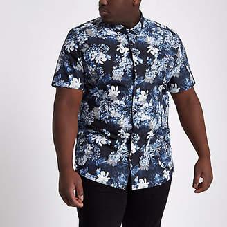River Island Mens Big and Tall slim fit floral shirt