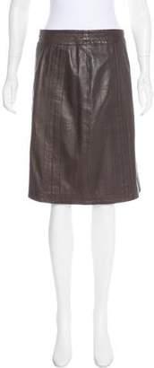 TSE Leather Knee-Length Skirt
