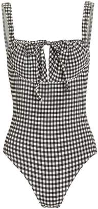 Solid & Striped Ellery Gingham One-Piece Swimsuit