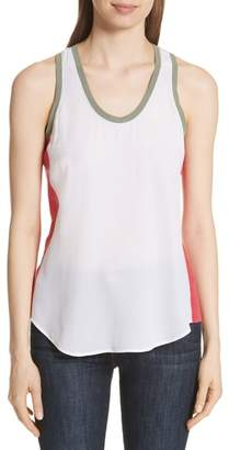 Equipment Mel Colorblock Silk Tank