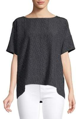 Eileen Fisher Printed High-Low Top