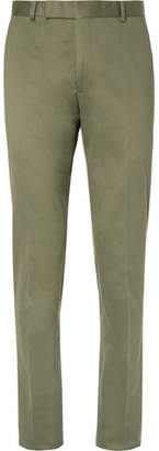 Richard James Green Slim-Fit Cotton-Twill Suit Trousers