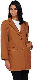 Isaac Mizrahi Live! Wool Blend Car Coat