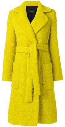 Odeeh textured belt coat