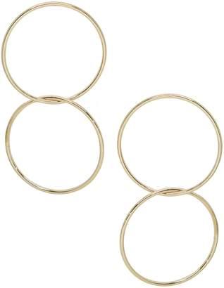 Ettika Power Frontal Hoop Earrings