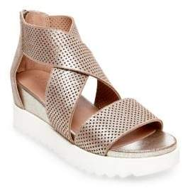 Steve Madden Klein Perforated Leather Sandals