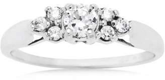Brilliance+ Believe by Brilliance .69 Carat T.G.W. CZ 10kt White Gold Engagement Ring
