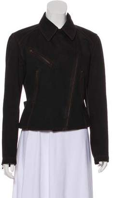 Alaia Lace-Up Denim Jacket