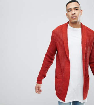 Asos DESIGN Tall knitted cardigan in orange