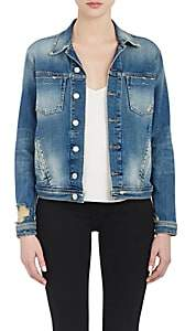 L'Agence Women's Denim Celine Jacket - Authentique Distressed