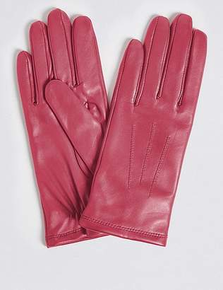 Marks and Spencer Leather Stitch Detail Gloves