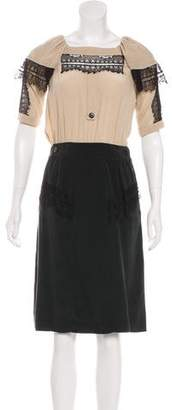 Mayle Silk Lace-Trimmed Dress