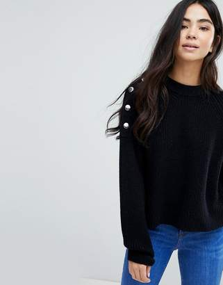 New Look Button Shoulder Sweater