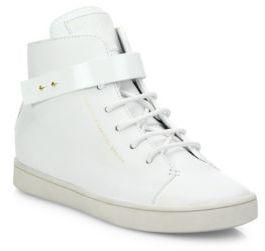 Giuseppe Zanotti Birel Leather High-Top Sneakers $695 thestylecure.com