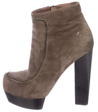 CNC Costume National Suede Platform Boots