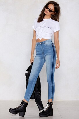 Nasty Gal Second Look Striped Jeans
