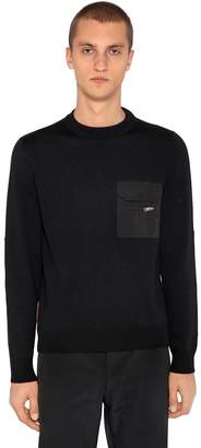 Prada Wool Knit Sweater W/ Nylon Details
