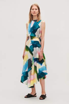 Cos ASYMMETRIC SILK DRESS WITH TIES