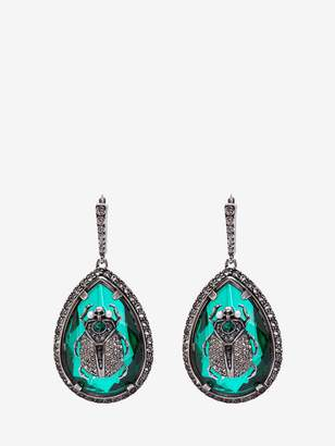 Alexander McQueen Beetle Earrings