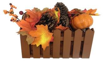 The Holiday Aisle Autumn Harvest Artificial Pumpkin Flower Floral Arrangement in Basket