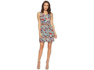 Romeo & Juliet Couture Floral Printed Fit and Flare Dress Women's Dress