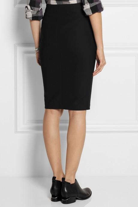 Elizabeth and James Ashlyn zip-front stretch-crepe skirt
