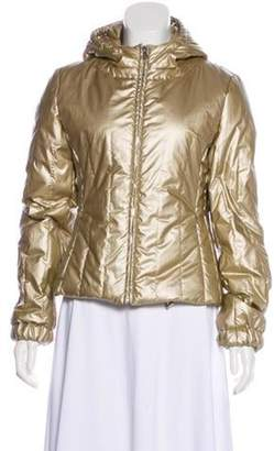 Prada Sport Metallic Hooded Coat Gold Sport Metallic Hooded Coat