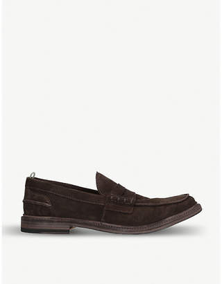 f7a378ad5e6 Officine Creative Warwick suede penny loafers