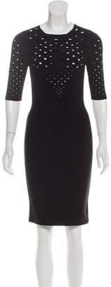 Cushnie et Ochs Short Sleeve Knee-Length Dress