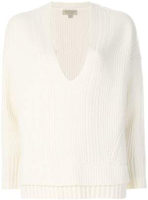 Burberry Cut-out V-neck Wool Cashmere