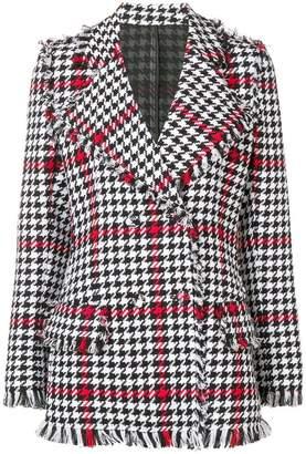 MSGM regular fit houndstooth jacket