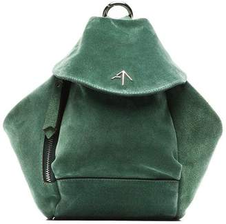 Atelier Manu green fernweh mini suede leather backpack