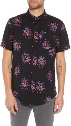 The Rail Neon Flower Print Woven Shirt