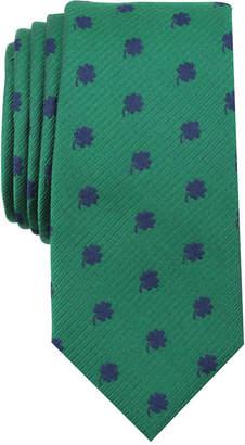 Bar III Men's Shamrock Skinny Tie, Created for Macy's