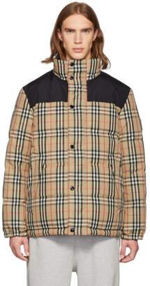 Burberry Reversible Beige Down IP Check Jacket