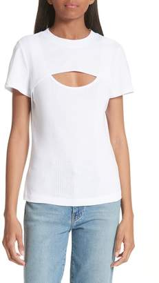 Alexander Wang High Twist Rib Combo Top