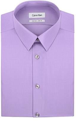 Calvin Klein Mens Dress Shirts Non Iron Slim Fit Solid