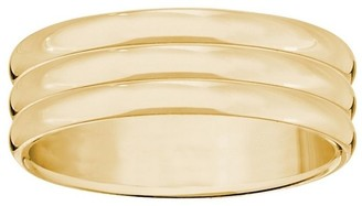 Men's 14K Yellow Gold 6mm Triple Ribbed WeddingBand