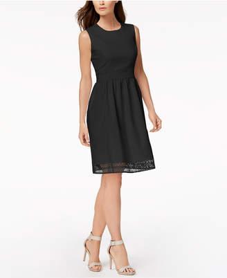 Calvin Klein Lace-Trim Fit & Flare Dress