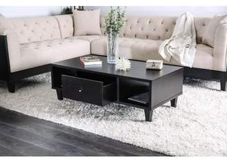 Furniture of America Nogales Contemporary Espresso Storage Drawer Coffee Table