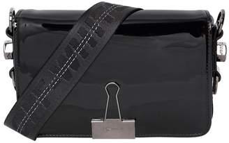 Off-White Mini Binder Clip Mirror Faux Leather Bag