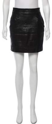 Acne Studios Leather Mini Skirt